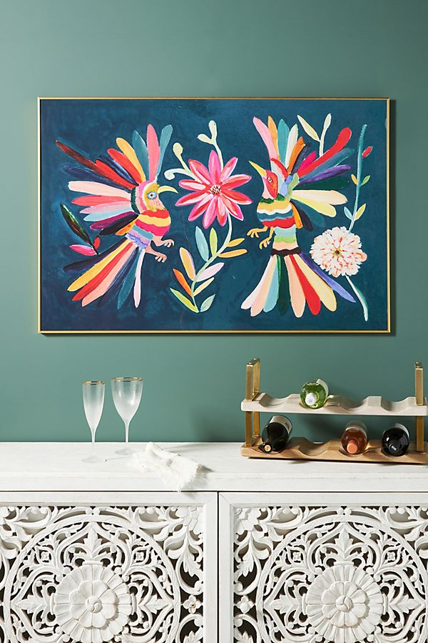 Slide View: 1: Otomi Blue Wall Art