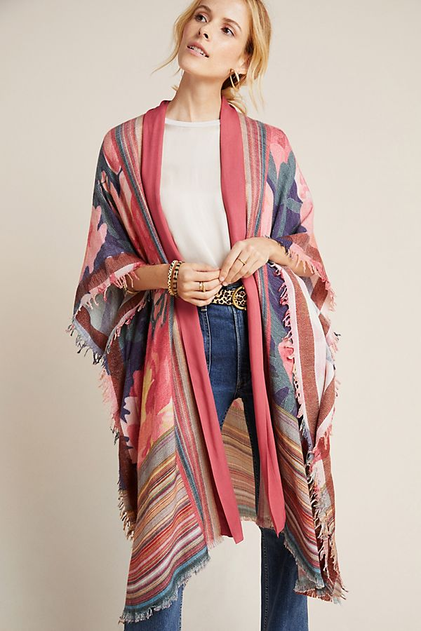 Slide View: 1: Allison Striped Kimono