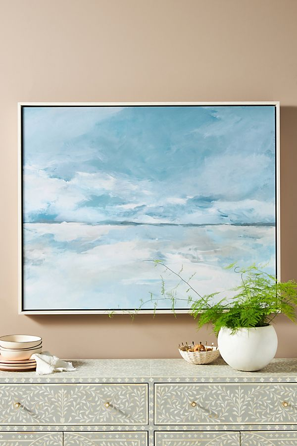 Slide View: 1: Cloudy Coast II Wall Art