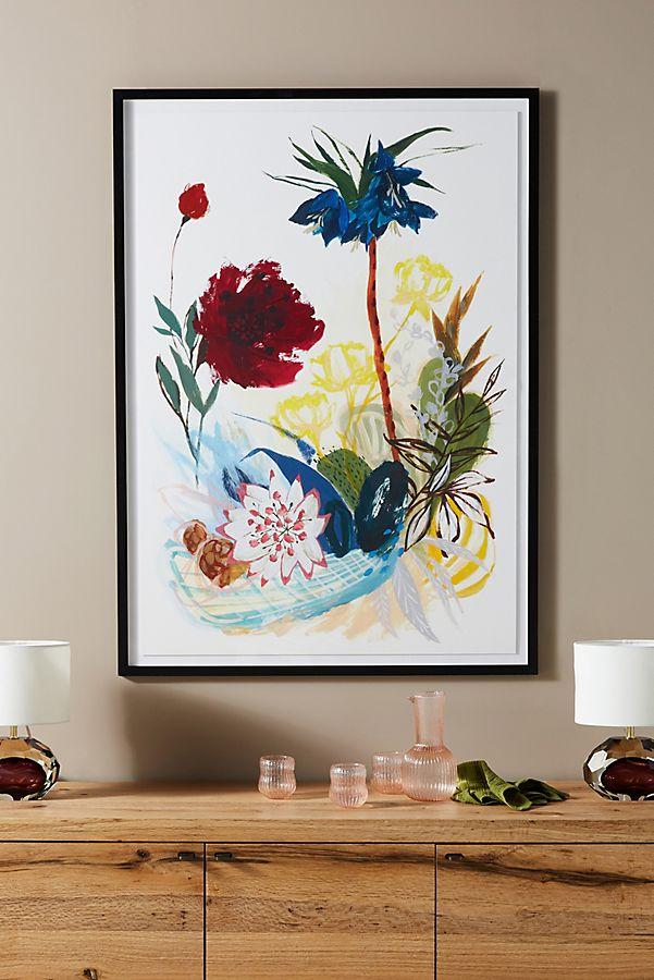 Slide View: 1: Garden Scarlet Wall Art