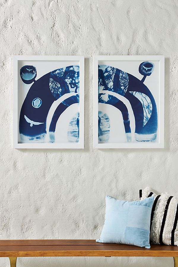Slide View: 1: Layers and Planes Diptych Wall Art