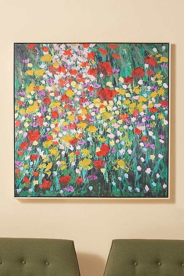 Slide View: 1: Floral Burst Wall Art