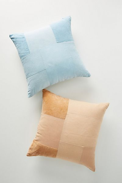 Flower-Dyed Patchworked Pillow