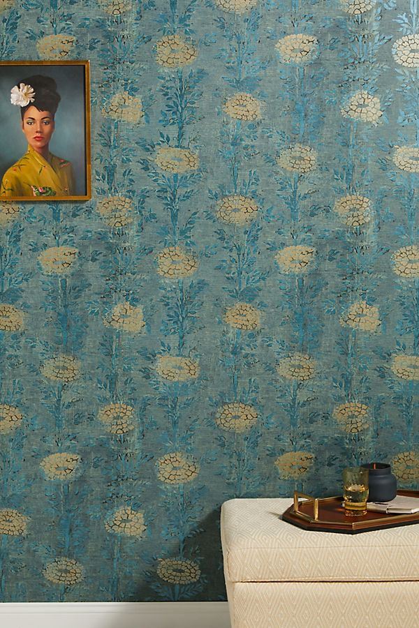 Slide View: 1: French Marigold Textured Wallpaper