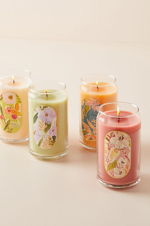 Slide View: 1: Spring's Eden Wrapped Glass Candle
