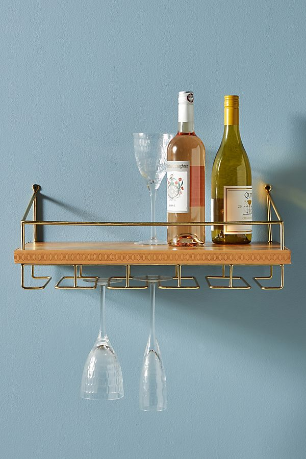 Slide View: 1: Shelby Leather Wine Rack