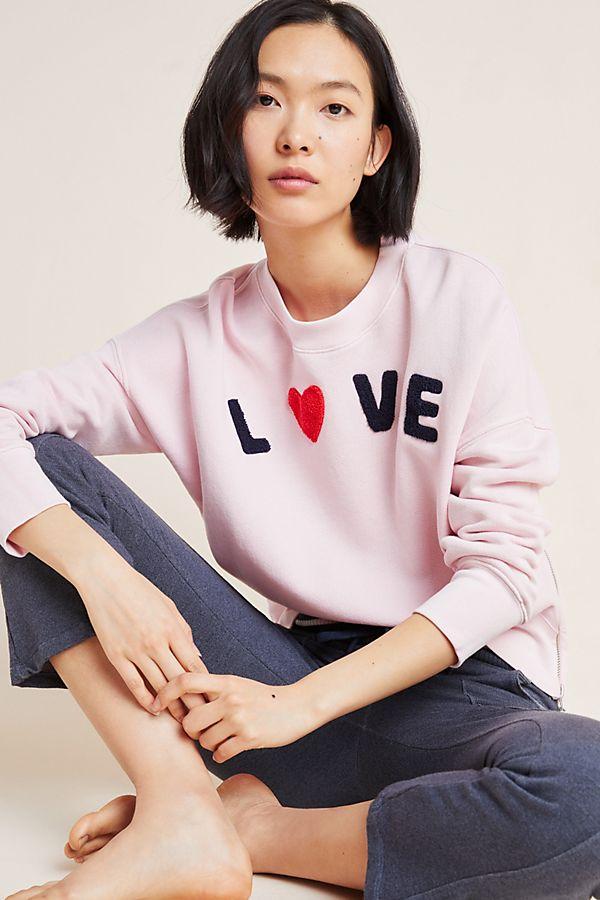 Slide View: 1: Sundry Love Side-Zip Sweatshirt