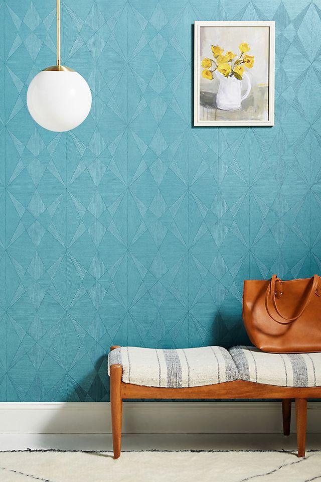 Intrinsic Geometric Wood Wallpaper Anthropologie