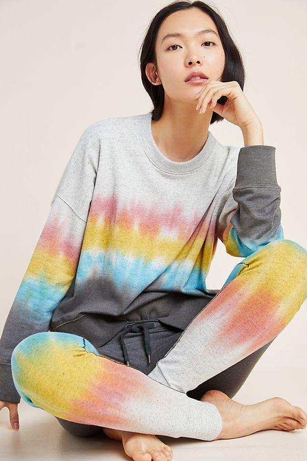Slide View: 1: Sundry Tie-Dyed Oversized Sweatshirt