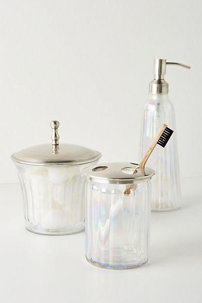 Lustrous Glass Bath Collection