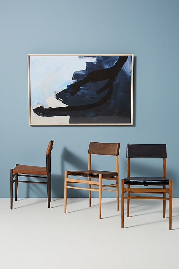Slide View: 1: Leather Sling Chair