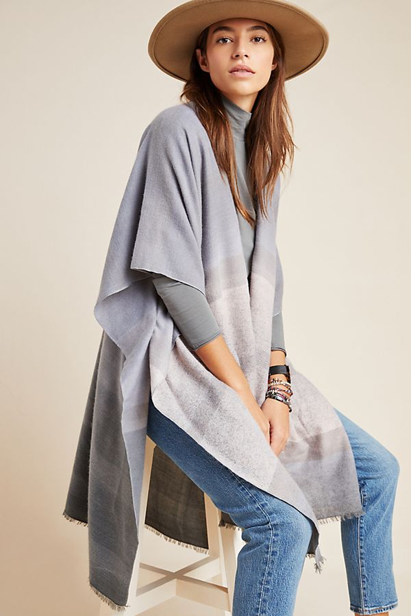Slide View: 1: Tonal Striped Kimono