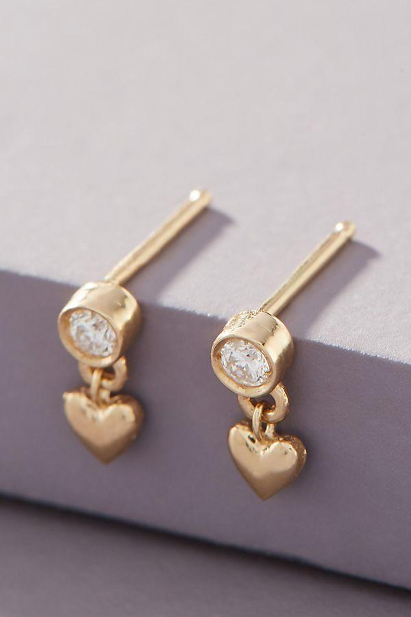 sofia-zakia-14k-gold-heart-diamond-earrings by sofia-zakia
