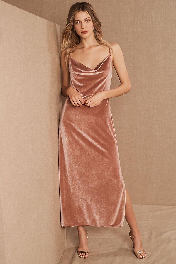 Slide View: 1: BHLDN Nasha Velvet Dress