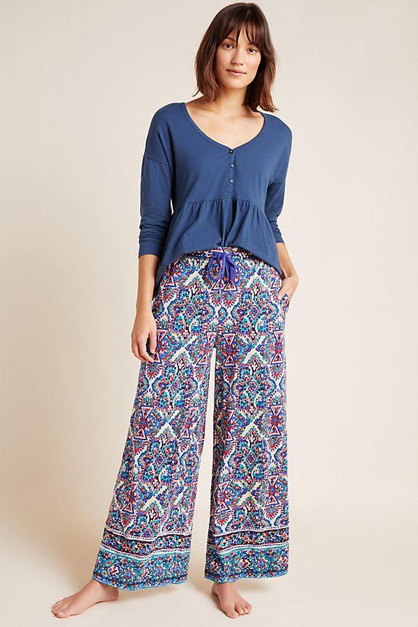 Slide View: 1: Jamila Wide-Leg Lounge Pants