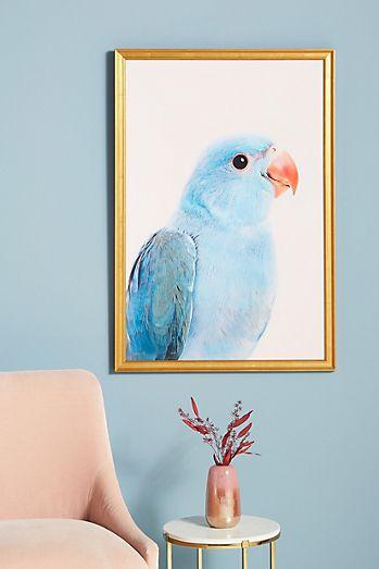 Blue Parrot Wall Art