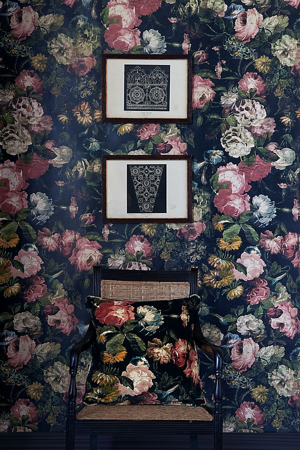 Slide View: 3: House of Hackney Midnight Garden Wallpaper
