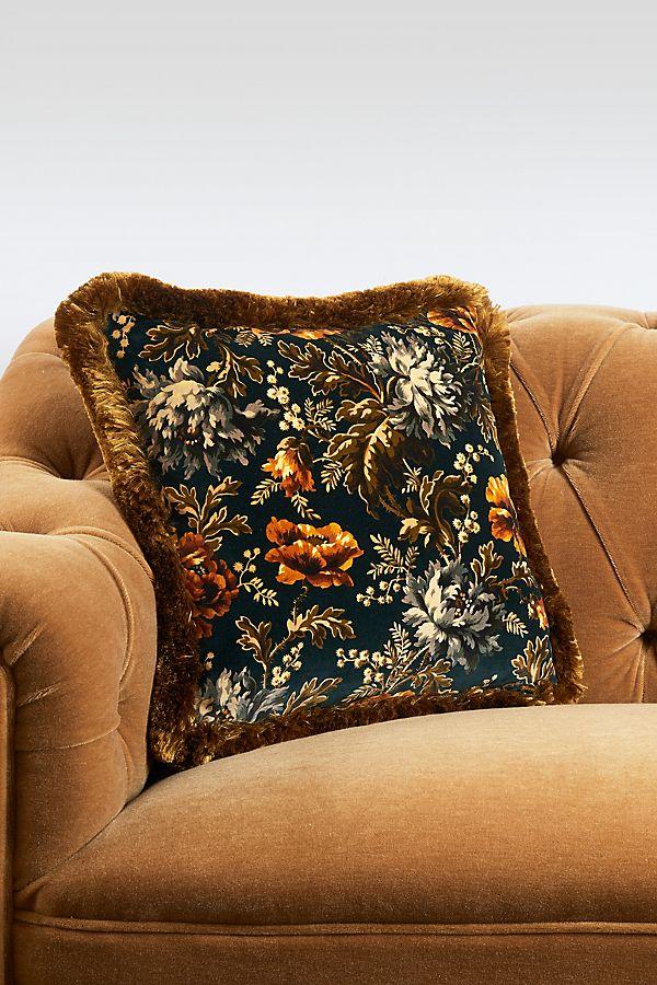Slide View: 1: House of Hackney Opia Fringed Velvet Pillow