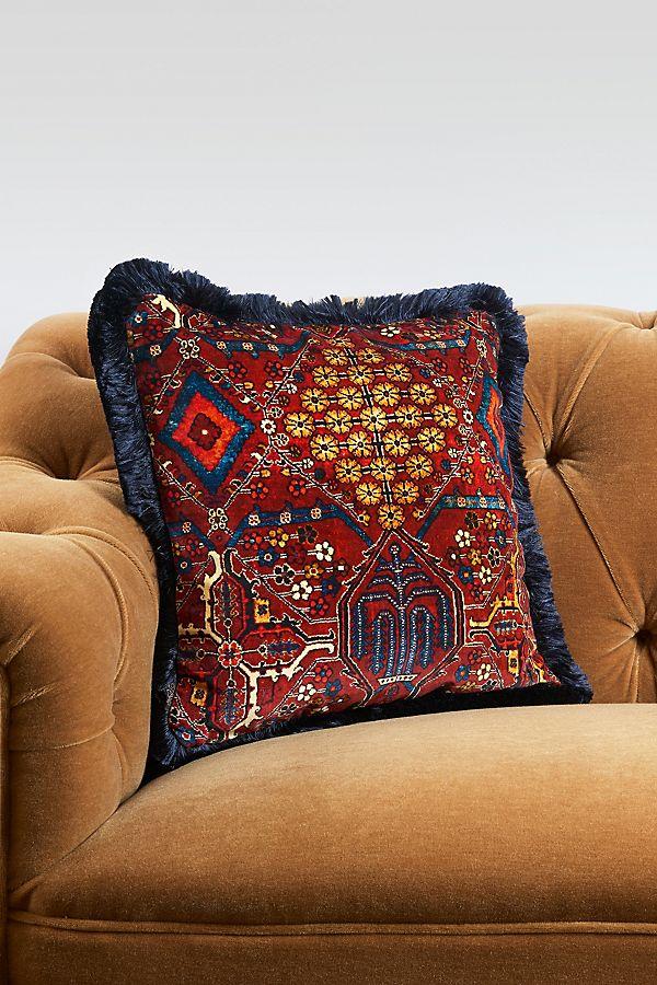 Slide View: 1: House of Hackney Mey Meh Fringed Velvet Pillow