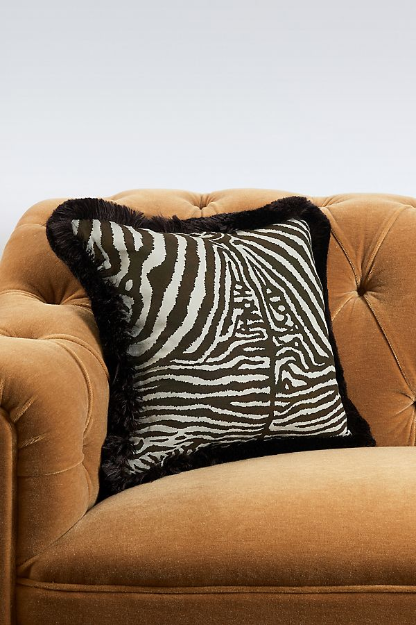 Slide View: 1: House of Hackney Equus Fringed Cotton-Linen Pillow