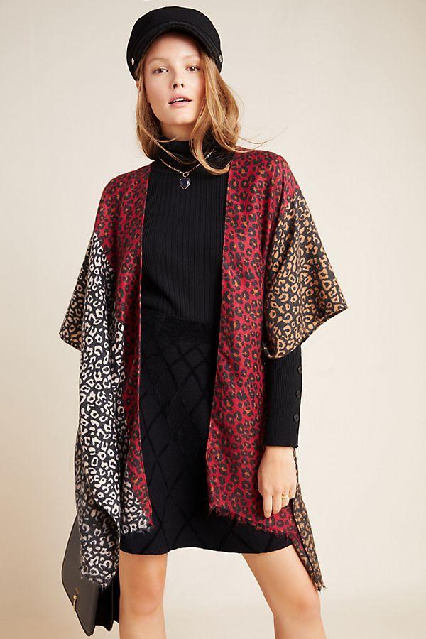 Slide View: 4: Claudia Leopard-Printed Kimono