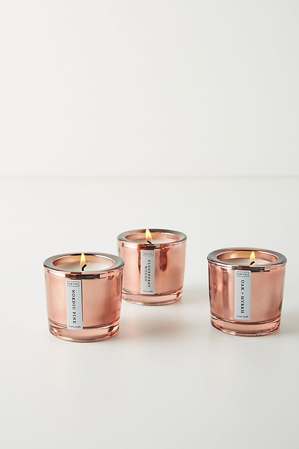 Slide View: 1: Splendor Votive Candles, Set of 3