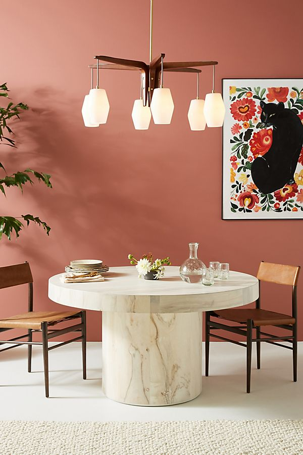 Slide View: 1: Swirled Drum Dining Table