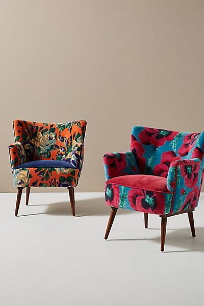 Velvet Tanya Petite Accent Chair