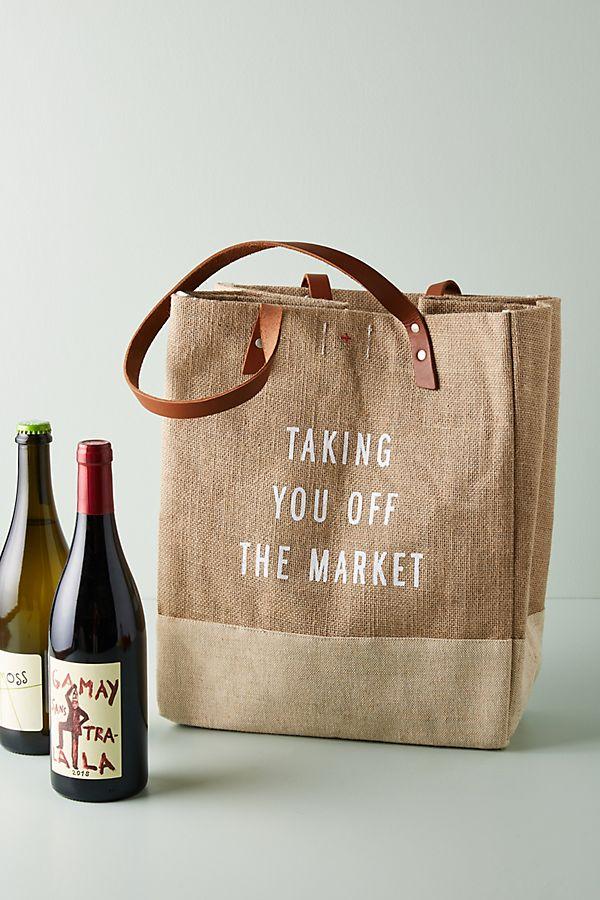 Slide View: 1: Market Day Jute Tote Bag