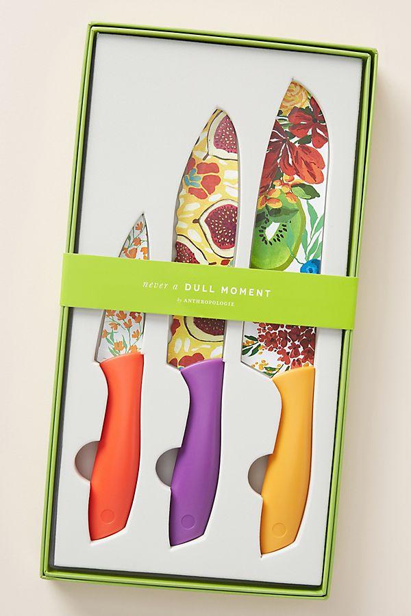 Slide View: 1: Market Kitchen Knives, Set of 3
