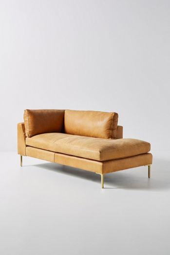 Bowen Modular Leather Chaise