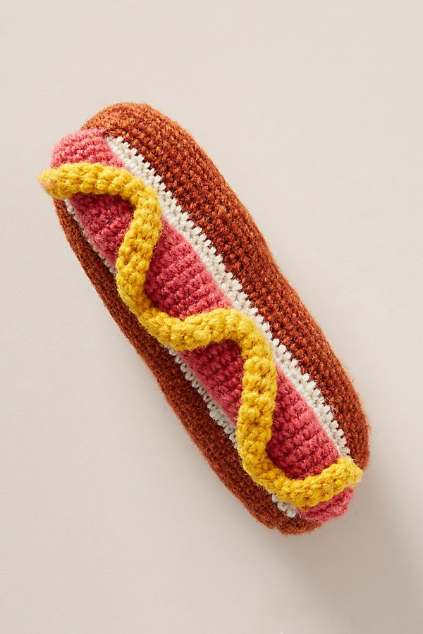 Slide View: 1: Hand-Knit Hot Dog Toy