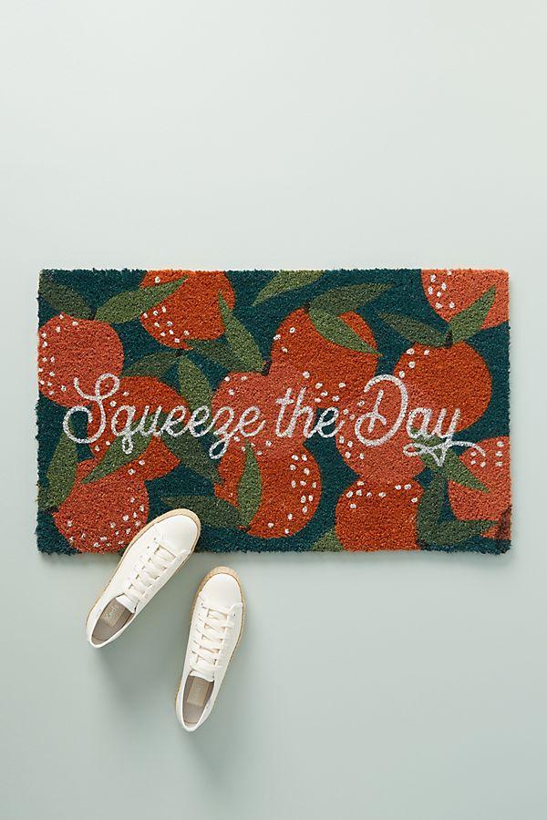 Slide View: 1: Squeeze The Day Doormat
