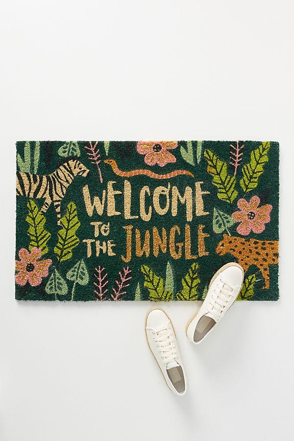 Slide View: 1: Welcome To The Jungle Doormat