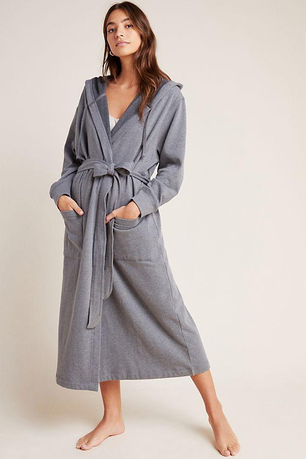 Slide View: 1: Eberjey Larken Hooded Robe