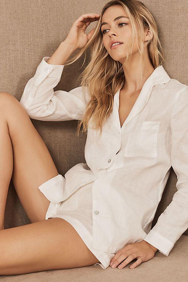 Slide View: 1: Homebodii Tyrell Linen Pajama Set