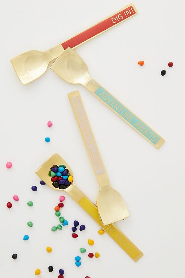 Slide View: 1: Gelateria Ice Cream Spoons, Set of 4