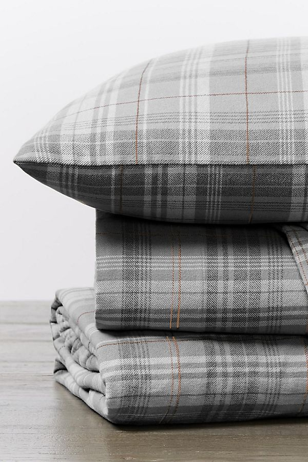 Slide View: 1: Coyuchi Cloud Brushed Organic Flannel Sheet Set
