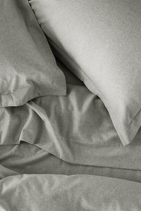 Slide View: 2: Coyuchi Cloud Brushed Organic Flannel Duvet Cover