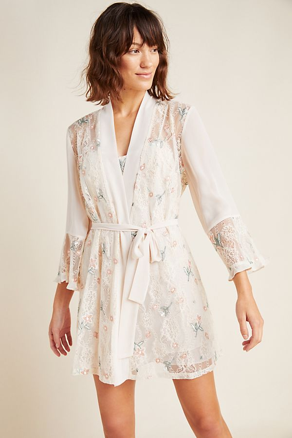 Slide View: 1: Keepsake Lace Robe