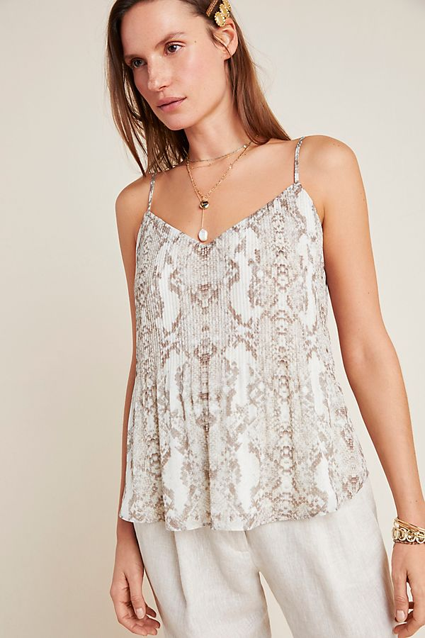 Slide View: 1: Lizette Snake-Printed Cami
