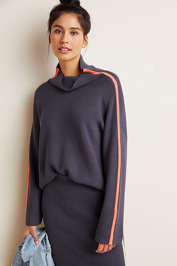 Slide View: 1: Neon-Striped Sweater