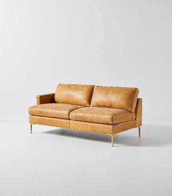 Bowen Modular Leather One Arm Sofa Anthropologie