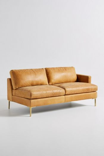 Bowen Modular Leather One-Arm Sofa