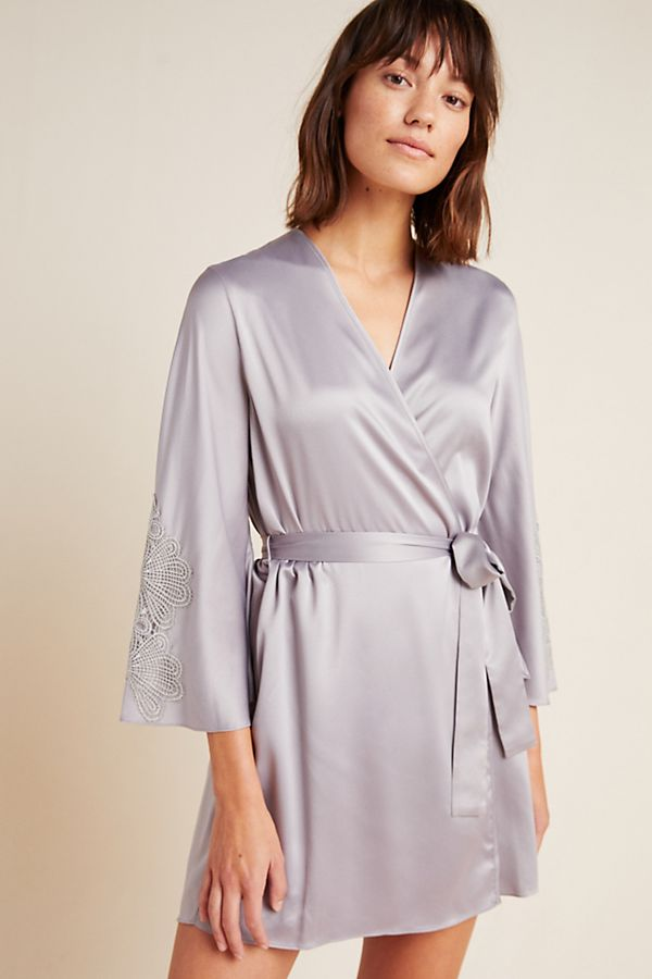 Slide View: 1: Daphne Satin Robe