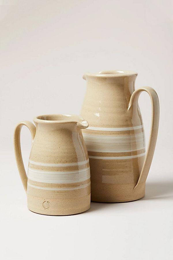 Slide View: 1: Farmhouse Pottery Yellowware Pitcher