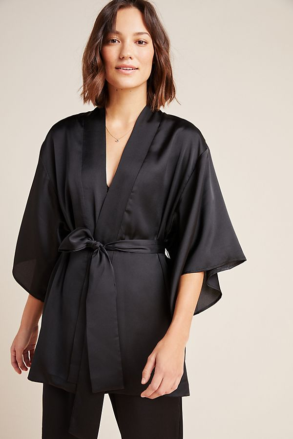 Slide View: 1: Hanya Satin Robe