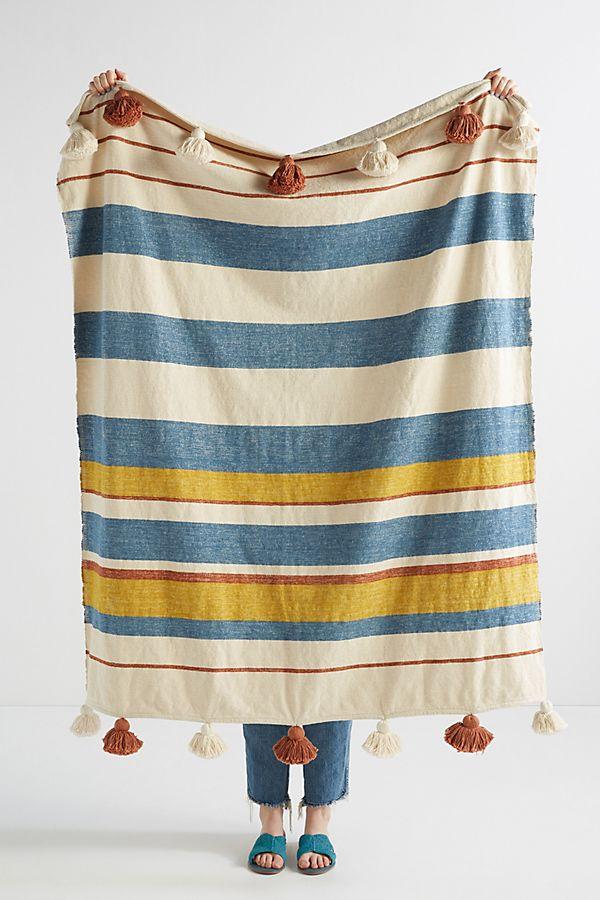 Slide View: 1: Tasseled Manny Throw Blanket