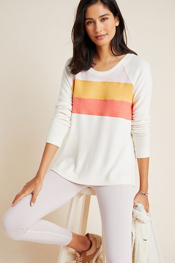 Slide View: 1: Connie Colorblocked Sweater