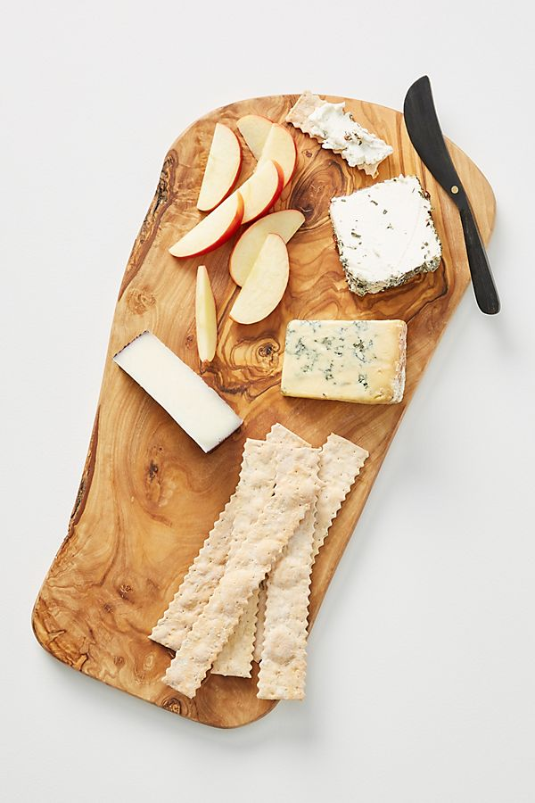 Slide View: 1: Olive Wood Cheese Board